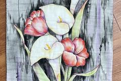 Lilies-on-Wood